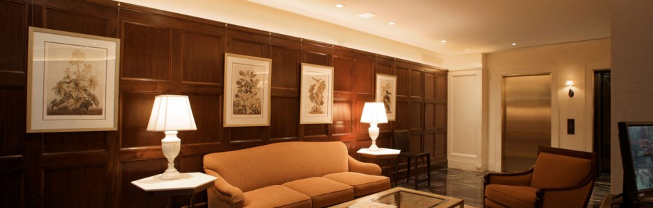Upper East Side Co-Op - Lobby Wood Paneling